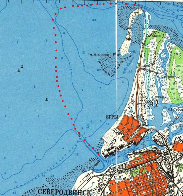карта рыбака северодвинска