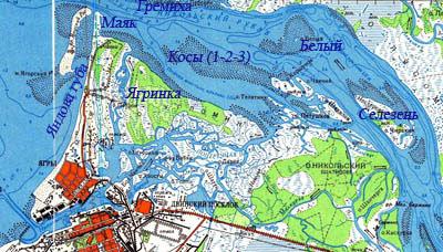 карта рыбалок енисей