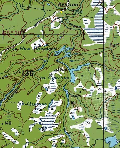 карта озер для рыбалки в архангельске