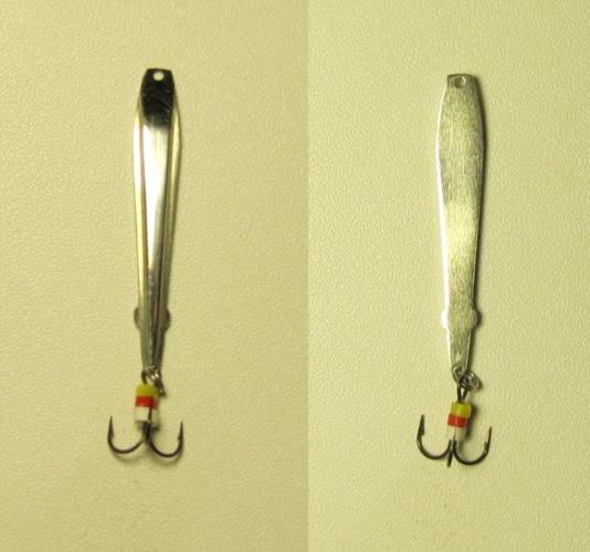 Как сделать блесну на окуня зимнюю из ложки