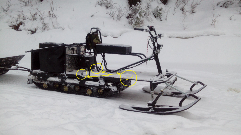 Мотобуксировщики своими руками с лыжным модулем 852