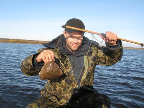 камбала рыбалка сетью