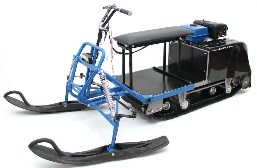 Движение с лыжным модулем по глубокому снегу