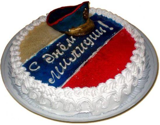 Картинки тортов с днем милиции