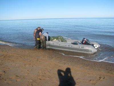 белое море лодочный ручей