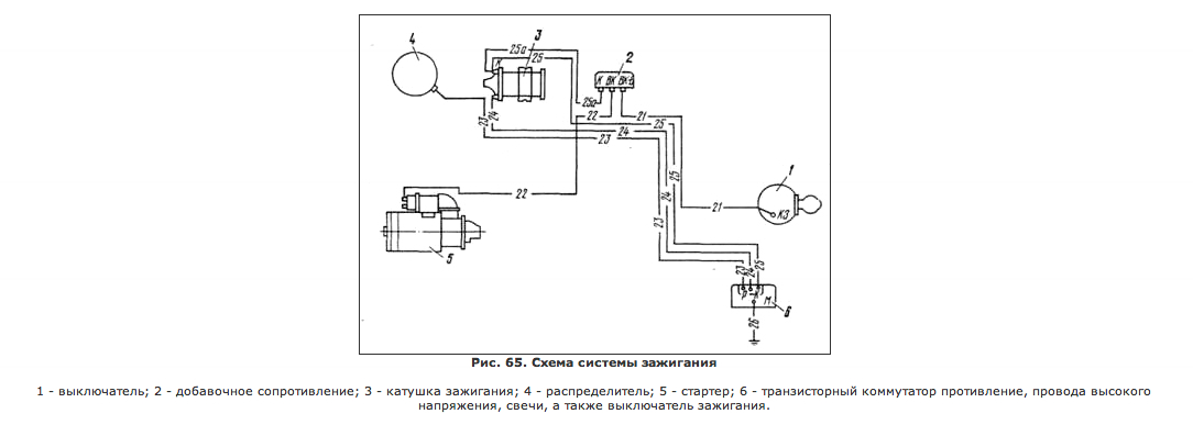 Вариатора зажигания газ 3307 схема