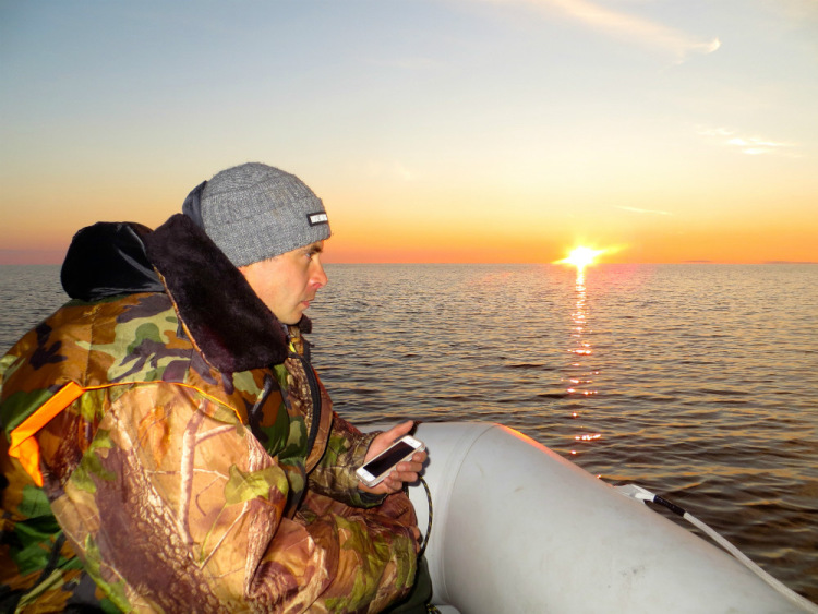 Рыбалка на белом море фото