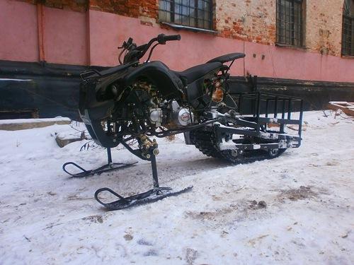 Переделка квадроцикла в снегоход