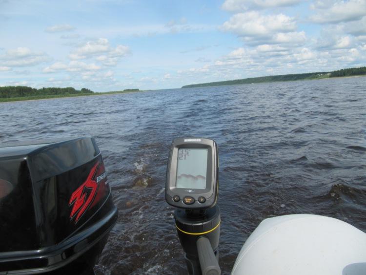 тест с лодкой и берегом