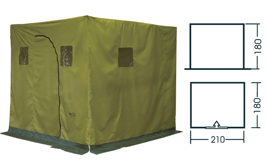 Палатка из подручных материалов